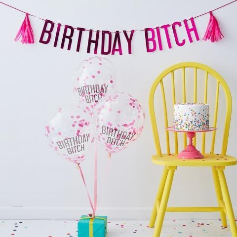 Birthday Bitch -partyset