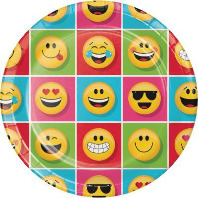 Emoji stora tallrikar