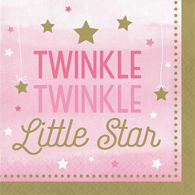 One Little Star girl stora servetter  (twinkle)