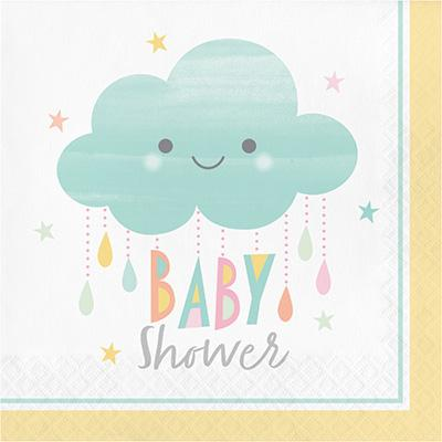 Sunshine baby shower stora servetter