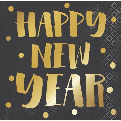 Happy new year, små servetter