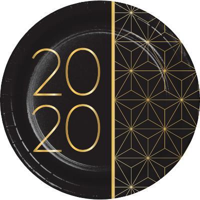 Nyår 2020 små tallrikar
