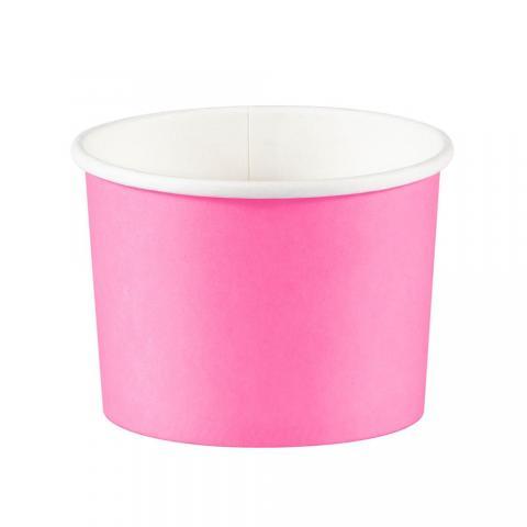 Glassbägare, rosa