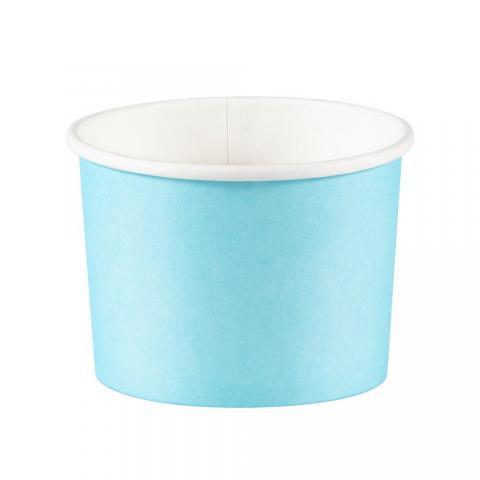 Glassbägare, ljusblå