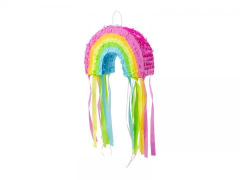 Piñata med dragsnöre, regnbåge