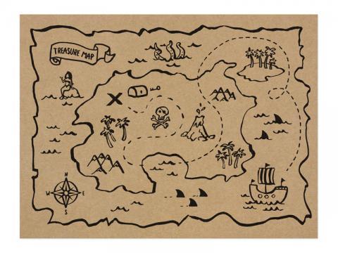 Pirat-bordstabletter 6st