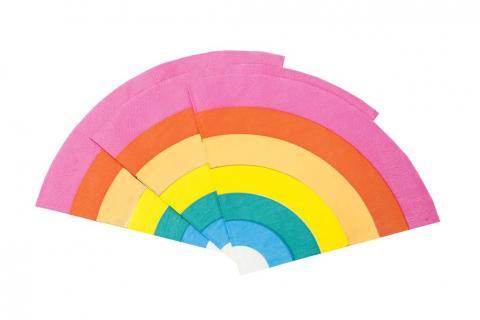 Regnbåge servetter