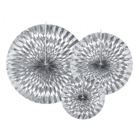 Pappersdekoration, silver 3st