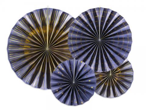 Pappersdekorationer, marinblå