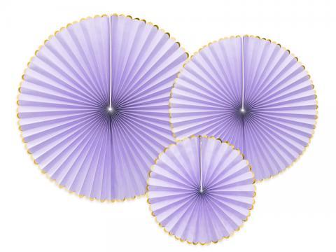 Pappersdekoration, lila 3st