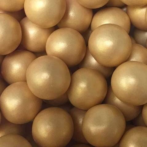 Chokladkulor large, guld 70g