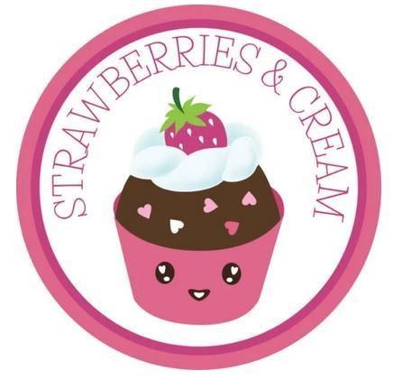 Smaksatt florsocker, Strawberries & Cream