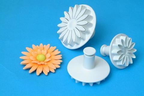 PME solblomma/Gerbera-dekorations utstickare set 3