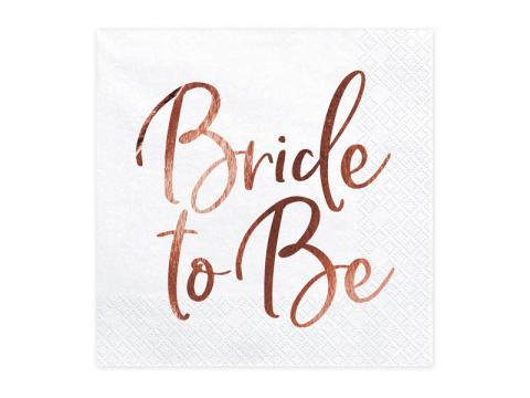 Bride to Be stora servetter
