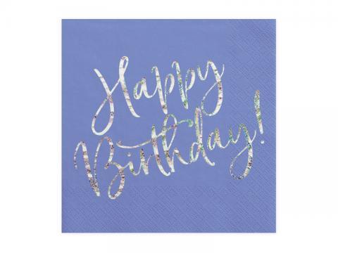 Happy Birthday servetter, blå