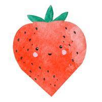 Servett, jordgubbe