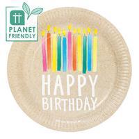 Tallrik återvinningsbar, Happy Birthday