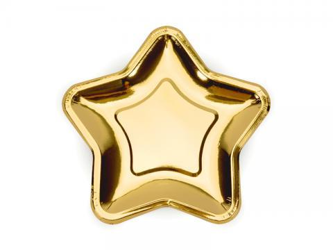 Guldstjärnor, små tallrikar