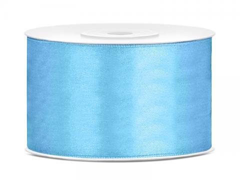 Satinband 3,8cm himmelblå