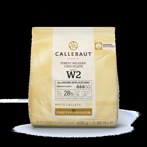 Callebaut N° W2 vit choklad 400g