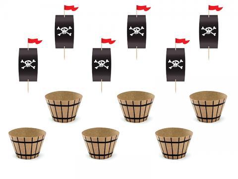 Cupcake dekorationsset, pirat