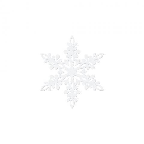 Pappersdekoration, snöflinga 9cm