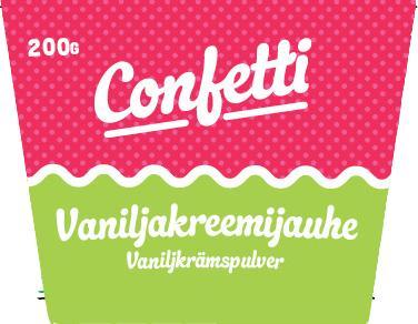 Confetti vaniljkrämpulver