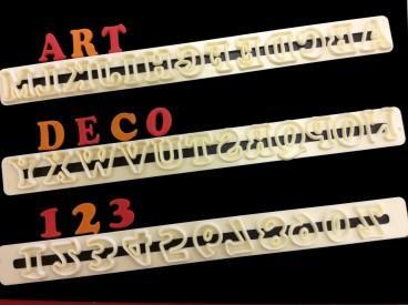 Art deco bokstäver och siffror