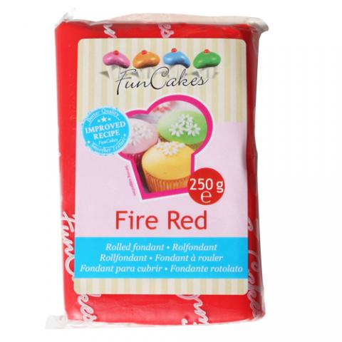 Funcakes sockerpasta, Fire Red 250g