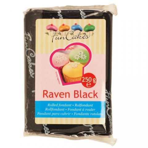 Funcakes sockerpasta, Raven Black 250g