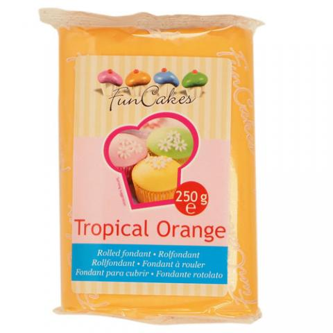 Funcakes sockerpasta, Tropical Orange 250g