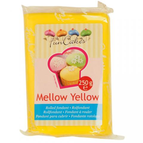 Funcakes sockerpasta, Mellow Yellow 250g