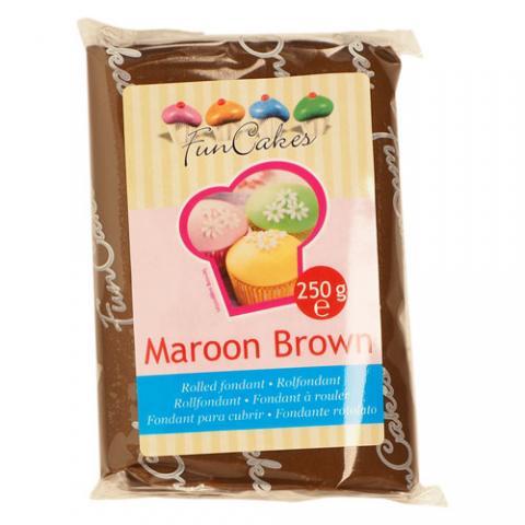 Funcakes sockerpasta, Maroon Brown  250g