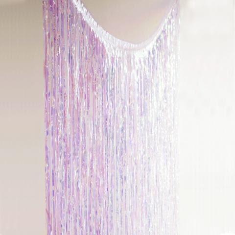 Glitterati dörrgardin, pärlemo (iridescent)