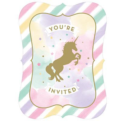 Unicorn Sparkle inbjudningskort