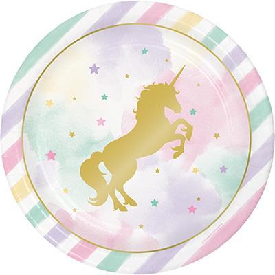 Unicorn Sparkle stora  tallrikar